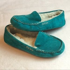 UGG Ansley Slippers | Deep Teal | Size 8